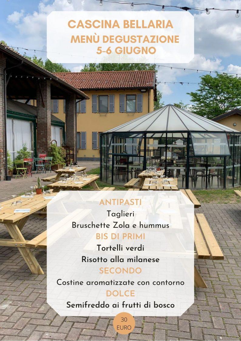 Menù Cascina Bellaria 5-6 giugno
