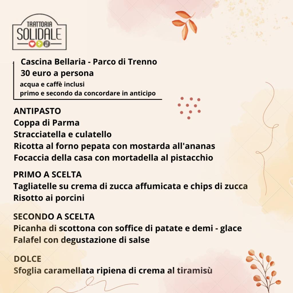 Menù Cascina Bellaria