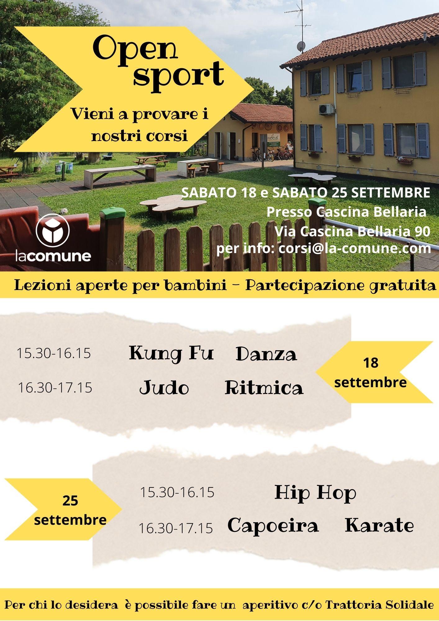 Open Sport in Cascina Bellaria